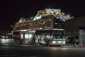 Most of the Australian passengers were evacuated from the Diamond Princess cruise ship last week.