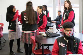 Year 11 and 12 students return to Mount Alexander College.