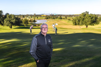 Geoff Ross on the course at Mount Derrimut on Wednesday.