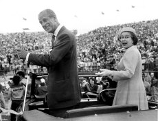 The Queen Elizabeth II and Prince Philip Duke of Edinburgh at the closing ceremony of the 1982 Commonwealth Games in Brisbane.  SMH Picture by RUSSELL McPHEDRAN Fairfax archives Rich &
