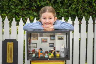 """Scarlett Martin with her """"Neighbourhood Museum""""."""