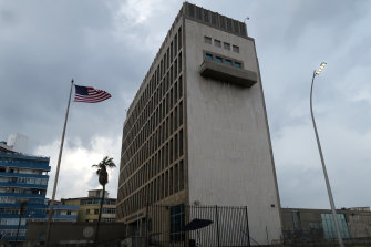 The US embassy in Havana, connected to the first reported cases of the mysterious syndrome.