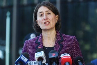 NSW Premier Gladys Berejiklian announced a text service for negative coronavirus results on Tuesday.