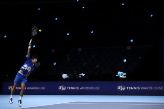 Novak Djokovic's season ended with a loss to Dominic Thiem in the ATP finals.