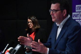 Victorian Premier Daniel Andrews and Health Minister Jenny Mikakos.