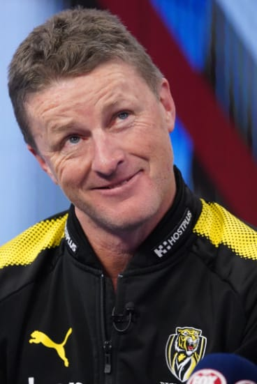 Tiger coach Damien Hardwick on Wednesday.