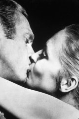 "Steve McQueen and Faye Dunaway in 1968's ""The Thomas Crown Affair""."