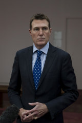 Attorney-General Christian Porter at Parliament House in Canberra.