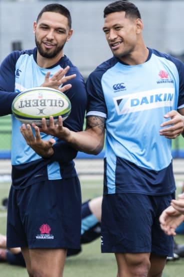Mates: Folau and Curtis Rona at Waratahs training