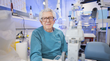 Professor Jacques Miller has been working on his research since the 1960s.