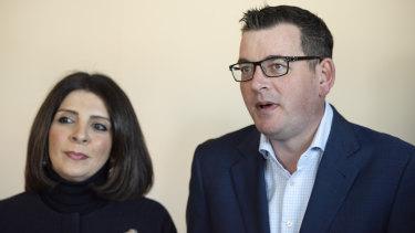 Victorian Premier Daniel Andrews and gaming minister Marlene Kairouz.