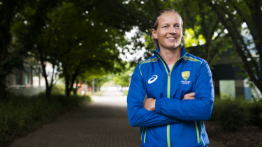 Meg Lanning is finally back in Australian kit.