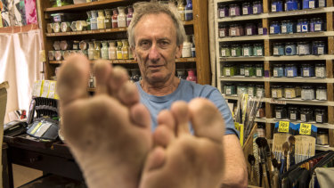 Stephen Lenn has covered countless kilometres without a pair of shoes.