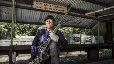 Susie Smith is hoping to pass on her love for guns to four-year-old daughter Tahlia as the sport continues to grow.