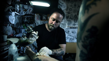 LDF Tattoo owner Leslie Rice at the Spectrum Now festival.