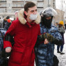 'Down with the tsar!': Russia arrests over 5000 at protests for Alexei Navalny