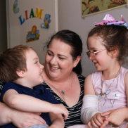 AngelaHind with herdaughterMatilda, 6, and sonLiam, 4.