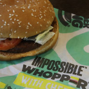 The Impossible Whopper is not so meatless after all. the customer claims.