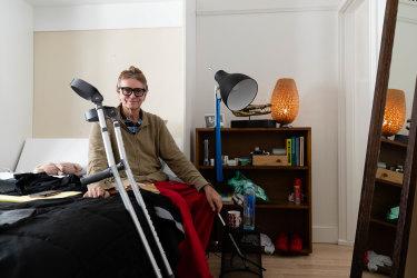Charles Waterstreet in his Darlinghurst bedsit this week.