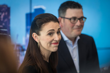 NZ PM Jacinda Ardern meeting with Victorian premier Daniel Andrews on Thursday.