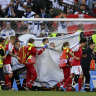 Euros shock as Denmark star collapses against Finland, requires CPR