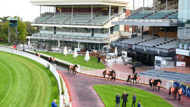 A crowdless Caulfield hosted March's All-Star Mile meeting.