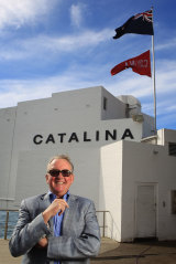 Michael McMahon outsider his beloved Catalina in Rose Bay in 2014.