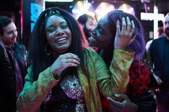 Best friends Terry (Weruche Opia) and Arabella (Michaela Coel) out on the town in I May Destroy You.