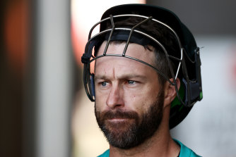Australian batsman Matthew Wade is keen to get to Brisbane.