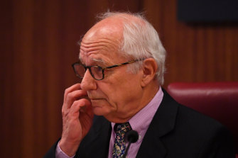 Ray Finkelstein, QC, during Victoria's royal commission into Crown in Melbourne on Wednesday.