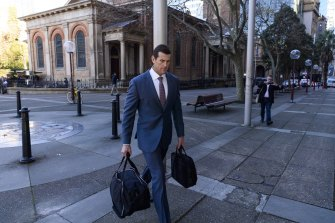 Ben Roberts-Smith arrives at court in Sydney on Friday.