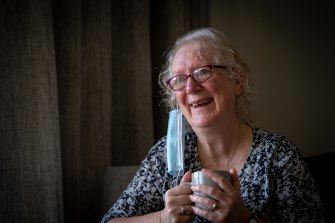 Liz Millman at the Nellie Melba Retirement Village.