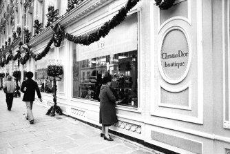 The Dior boutique at 30 Avenue Montaigne.