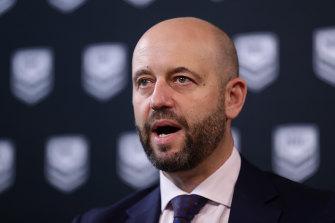 Todd Greenberg took a dig about his time at the NRL in good humour.