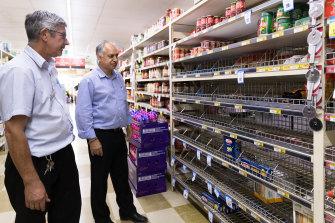 Manager, Matt Carey, with owner Robert Khan at Cobar IGA.