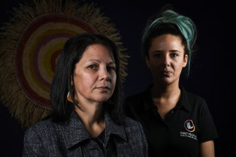 Karinda Taylor and Stevie-Lee Ryan from the First People's Health and Wellbeing clinic in Thomastown.