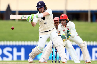 Will Pucovski of Victoria bats during day two of the Sheffield Shield match between South Australia and Victoria in October.