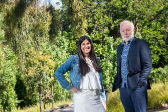 """Suparna Bhasin and  Patrick McGorry: """"We hit it off straight away in terms of a common purpose."""""""