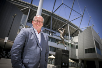 Digging in: Cricket Australia chairman Earl Eddings.