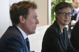 Industrial Relations Minister Christian Porter worked with ACTU secretary Sally McManus.