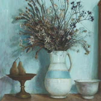 Margaret Olley's Hawkesbury wildflowers and pears c.1973.