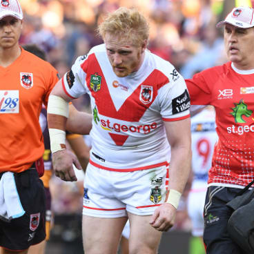 Leading by example: Graham  set the tone for St George Illawarra before he was injured.