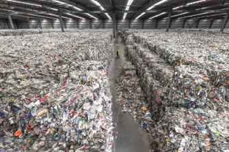 A Melbourne warehouse where thousands of tonnes of waste is dumped.