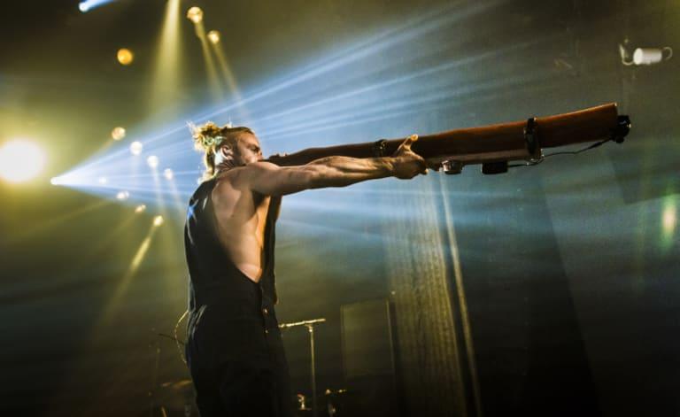 Xavier Rudd wields his didge.