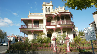 The Melbourne mansion where Kitching and Landeryou used to throw lavish parties before its forced sale due to bankruptcy.