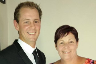 Ryan Messenger with his mother Janelle Russell.