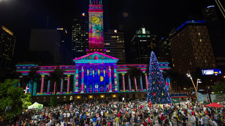 brisbane city hall 2017 christmas lights display