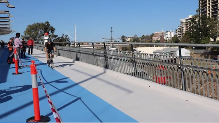 Cyclists have complained the Goodwill Bridge has become dangerous since it was resurfaced in September 2017.