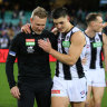 Bucks stops here: Magpies farewell Buckley with win over Demons