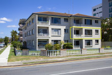 The sale of the three-bedroom unit at 4/442 Marine Parade was tied up with decisions over where the elderly owner would live.